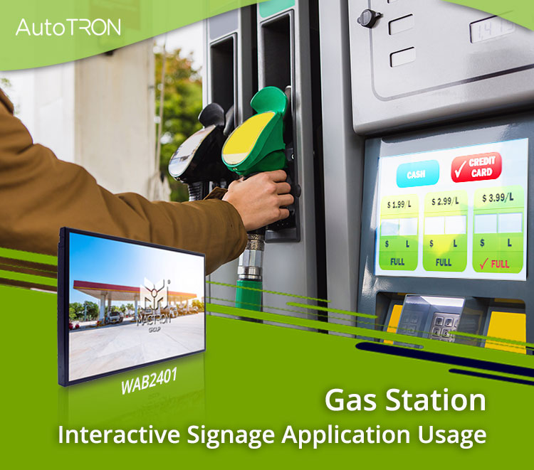 Gas Station Interactive Signage Application Usage